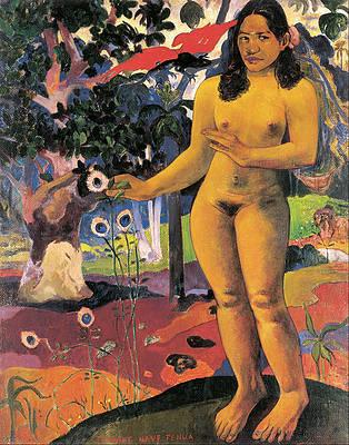 Delightful Land. Te Nave Nave Fenua Print by Paul Gauguin