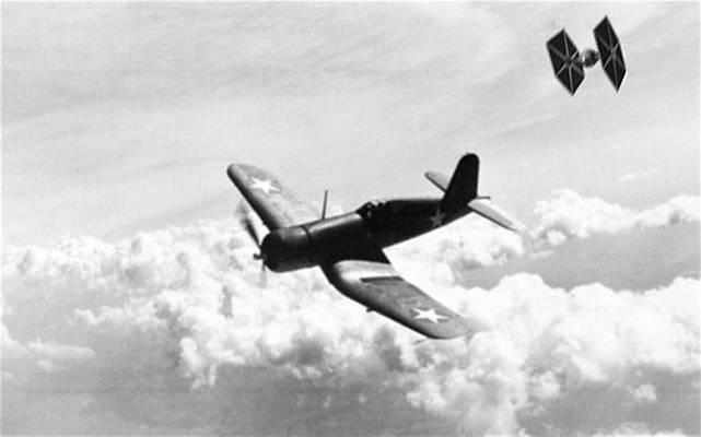 NEW STAR WARS SPITFIRE TIE FIGHTER DOG FIGHT WW2 T-SHIRT