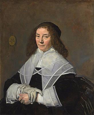 Dorothea Berck wife of Joseph Coymans Print by Frans Hals