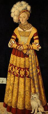 Duchess Katharina von Mecklenburg Print by Lucas Cranach the Elder