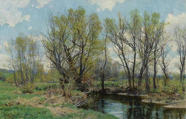Early Spring Near Sheffield. Massachusetts Print by Hugh Bolton Jones