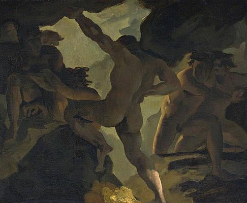 Episode De La Guerre Des Titans Print by Theodore Gericault