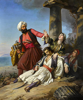 Episode from the Greek war of Independence Print by Paul Emil Jacobs