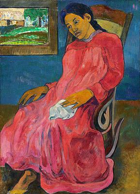 Faaturuma. Melancholic Print by Paul Gauguin