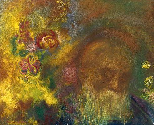 Реалистичный рисунок цветка - рисунок Одилона Редона