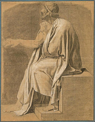 Figure Study for The Death of Socrates Print by Jacques-Louis David