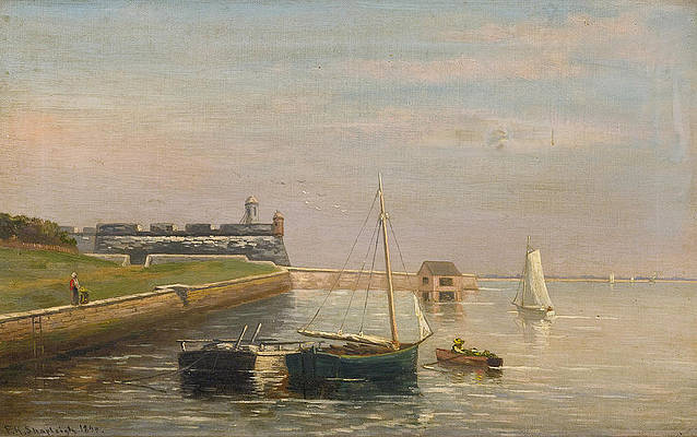 Fort Marion St. Augustine. Florida Print by Frank Henry Shapleigh