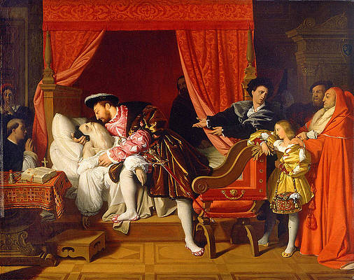 Francis I Receives the Last Breaths of Leonardo da Vinci Print by Jean-Auguste-Dominique Ingres