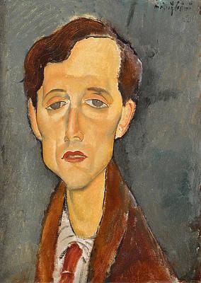 Frans Hellens Print by Amedeo Modigliani