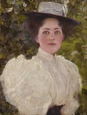 Girl in the Foliage Print by Gustav Klimt