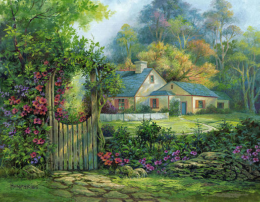 Country Cottage Paintings Fine Art America