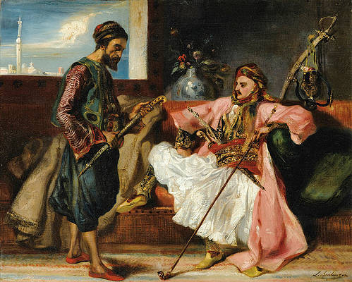 Greek Soldiers in an Interior Print by Louis Boulanger