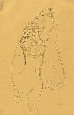 Half Nude seen from the Back Print by Gustav Klimt