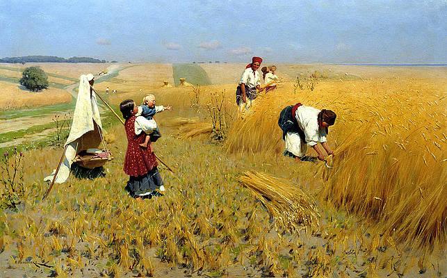 Harvest in Ukraine Print by Mykola Pymonenko