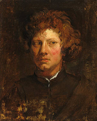 Head of a Young Man Print by Anthony van Dyck
