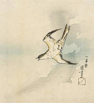 Hototogisu Print by Utagawa Kuniyoshi