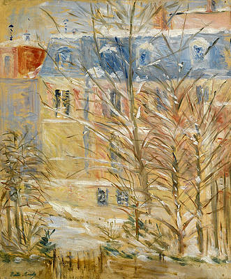 Houses in Snow Print by Berthe Morisot