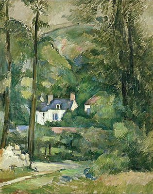 Houses In The Greenery Print by Paul Cezanne