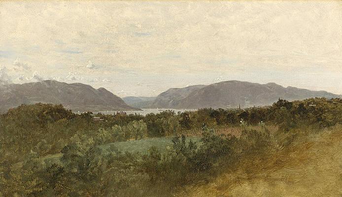 Hudson River Print by John Frederick Kensett
