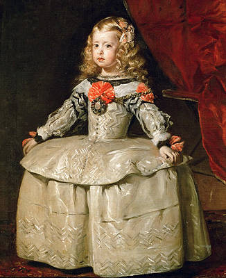 Infanta Margarita Teresa in a White dress Print by Diego Velazquez