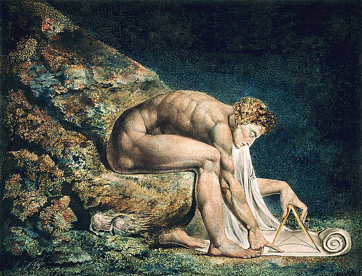 Isaac Newton Print by William Blake