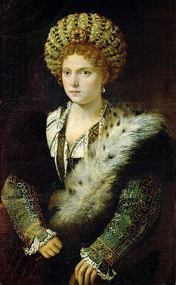 Isabella d'Este Marchesa of Mantua Print by Titian