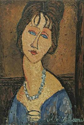 Jeanne Hebuterne. Au Collier Print by Amedeo Modigliani