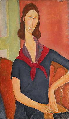 Jeanne Hebuterne. Au Foularde Print by Amedeo Modigliani