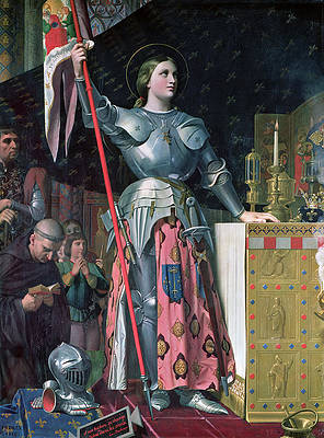 Joan of Arc at the Coronation of King Charles VII 17th July 1429 Print by Jean-Auguste-Dominique Ingres