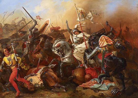 Joan Of Arc Painting - Joan of Arc in the Battle by August Gustav Lasinsky