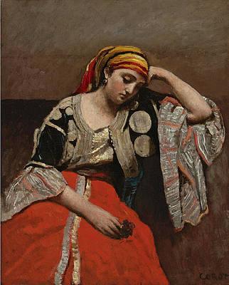 Juive d'Alger. L'Italienne Print by Jean-Baptiste-Camille Corot