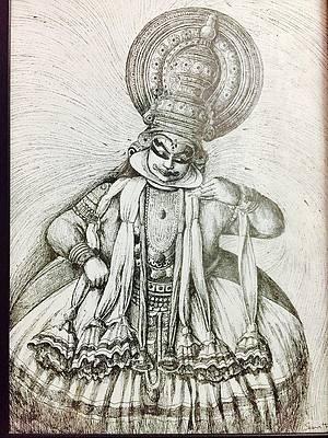 Kathakali Drawings Fine Art America