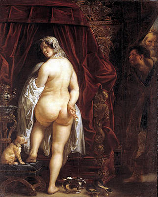 King Candaules of Lydia Showing his Wife to Gyges Print by Jacob Jordaens