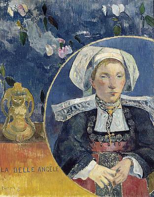 La Belle Angele Print by Paul Gauguin