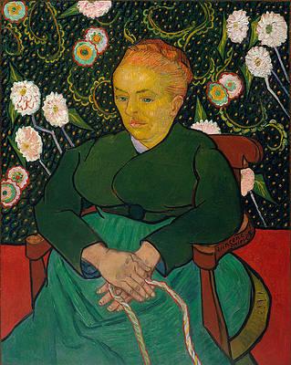 La Berceuse. Woman Rocking a Cradle. Augustine-Alix Pellicot Roulin Print by Vincent van Gogh