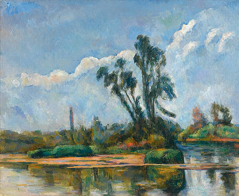 La Riviere Print by Paul Cezanne