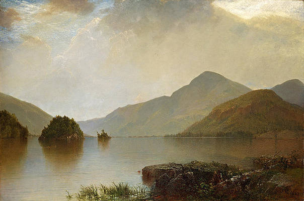 Lake George Print by John Frederick Kensett