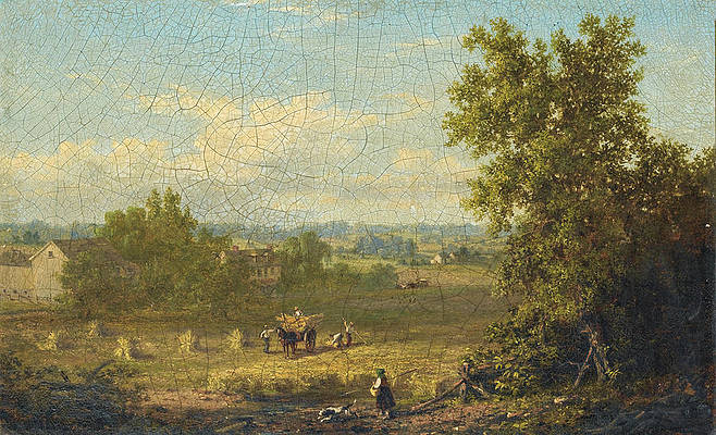Landscape and Harvest in Connecticut Print by Xanthus Russell Smith