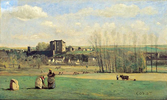 Landscape of La Ferte-Milon Print by Jean-Baptiste-Camille Corot