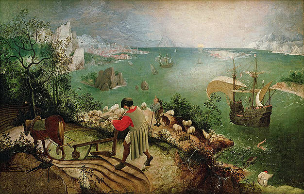 Landscape with the Fall of Icarus Print by Pieter Bruegel the Elder