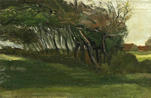 Landscape with Windswept Trees Print by Vincent van Gogh