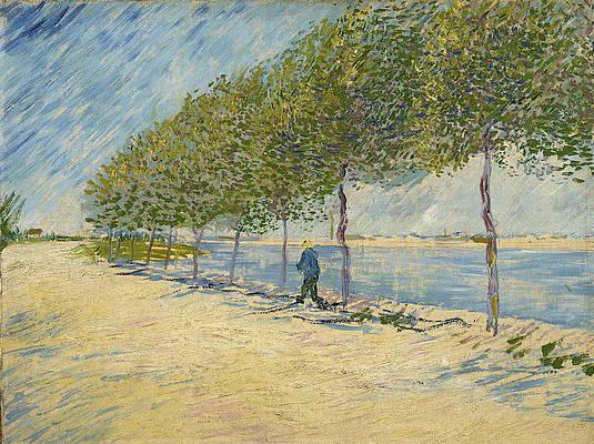 Langs de Seine Print by Vincent van Gogh