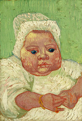 Le Bebe Marcelle Roulin Print by Vincent van Gogh