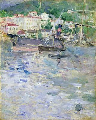 Le Port de Nice Print by Berthe Morisot