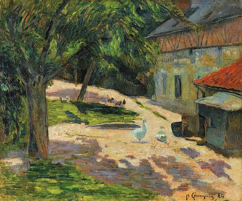 Le Poulailler Print by Paul Gauguin