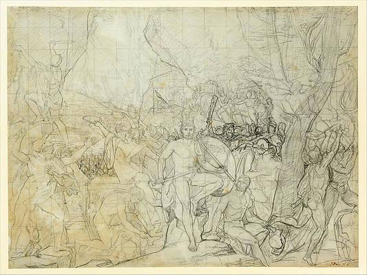 Leonidas at Thermopylae Print by Jacques-Louis David