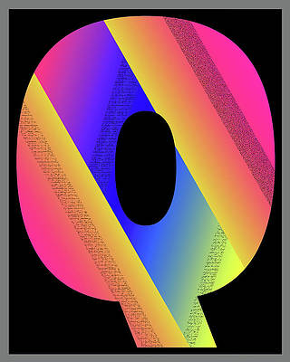 Digital Art - Letter Q by Day Williams