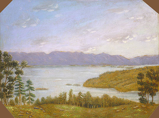 Leverett Pond Print by Erastus Salisbury Field