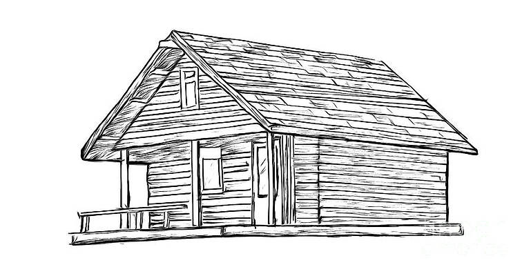 Log House Drawings Fine Art America