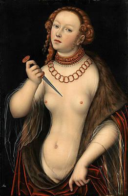 Lucretia 4 Print by Lucas Cranach the Elder